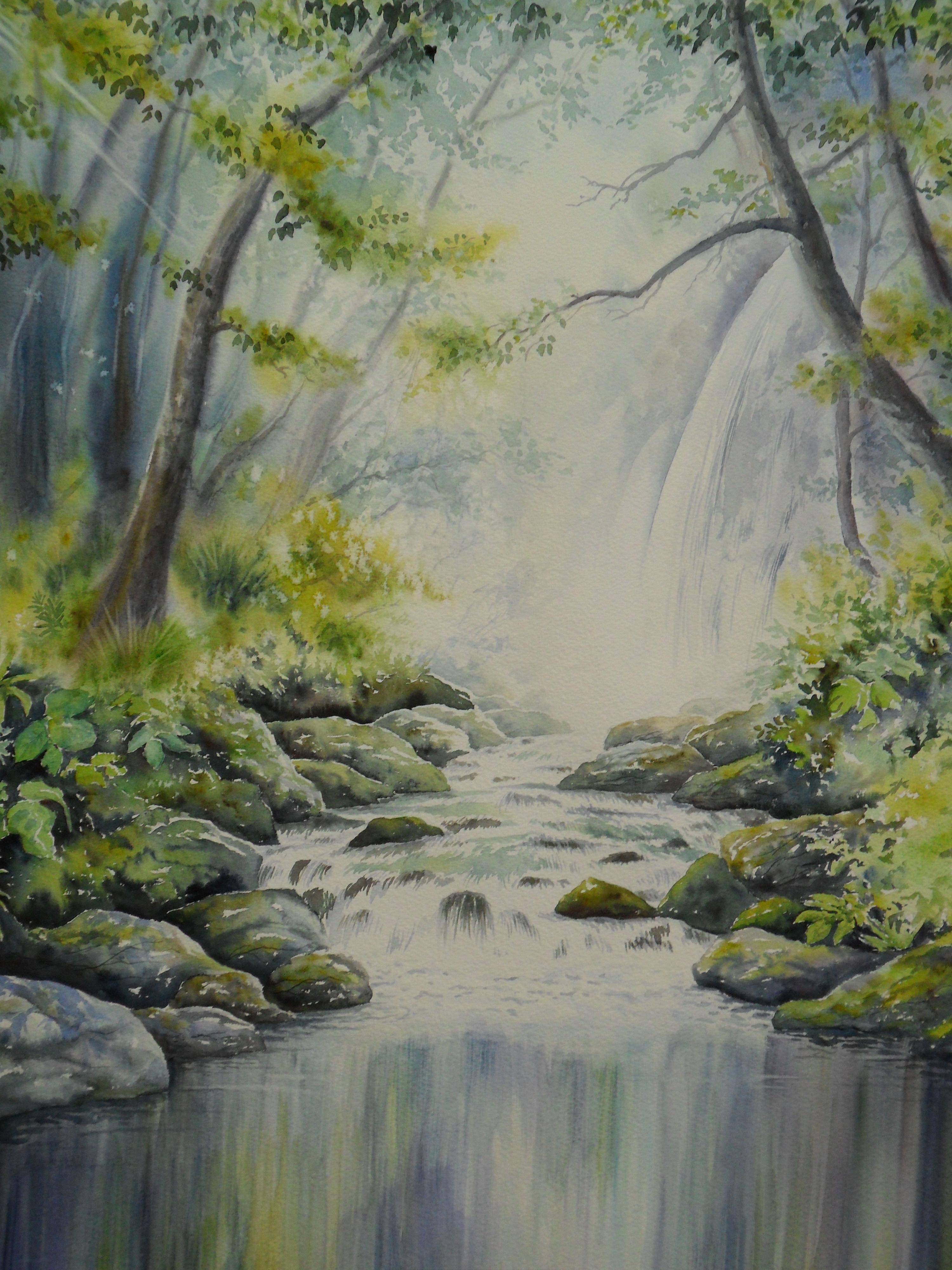 Au bord de l eau jacques williet aquarelliste for Au jardin des oliviers barr