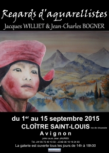 Visuel affiche Regards d'aquarellistes v2