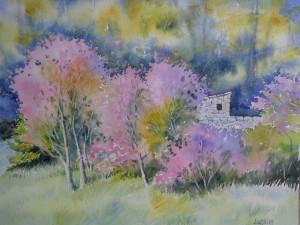 Les arbres de Judée (30 x 40 cm)