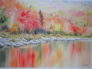 Reflets d'automne (25 x 35 cm)