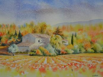 Les feux de l'automne (30 x 55 cm)