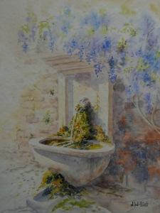 Fontaine à Cucuron (24 x 32 cm)