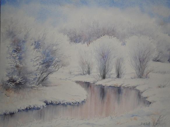 La rivère gelée (25 x 35 cm)