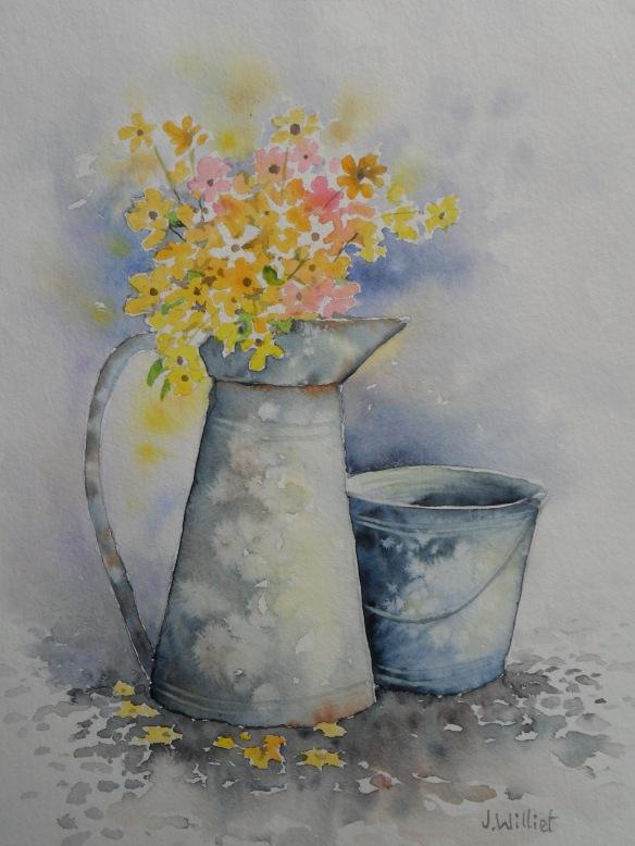 L'arrosoir fleuri