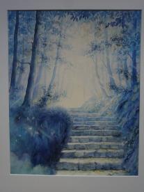 L'escalier bleu -