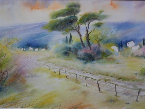 Chemin de campagne en Luberon