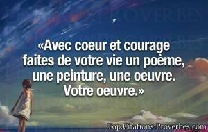 avec coeur et courage