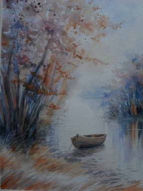 La barque ( 30 x 40 cm)