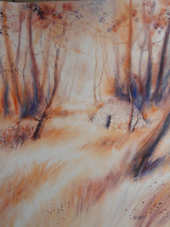 La borie sous les pins