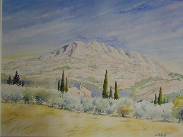 La Sainte Victoire (30 x 40 cm)