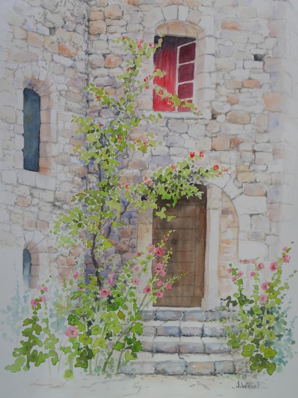 vieille porte à Oppède (30 x 40 cm)