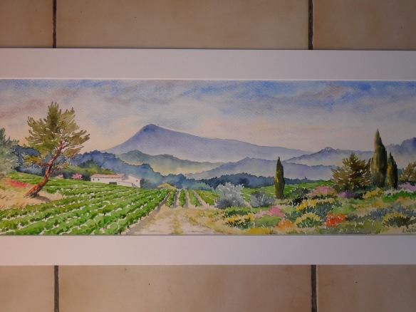 panoramique au mont Ventoux