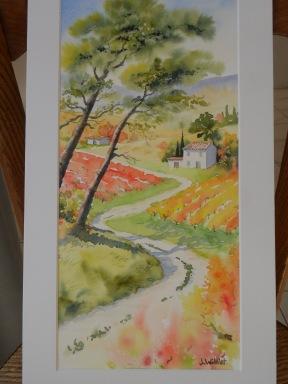 Chemin d'automne sous les pins