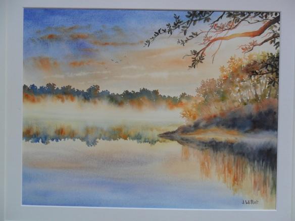 Brumes matinales sur le lac