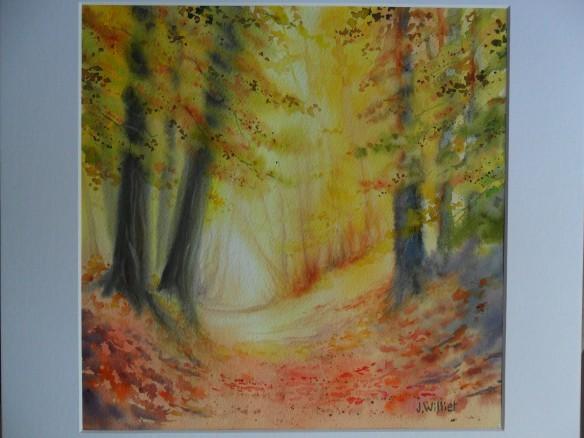 Forêt d'automne (30 x 30 cm)