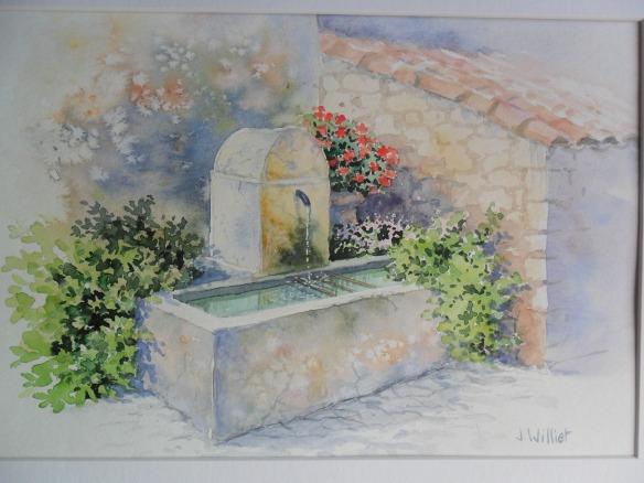 La fontaine de Lioux (20 x 30 cm)
