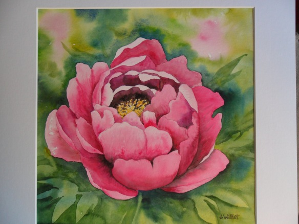 La pivoine rose (30 x 30 cm)