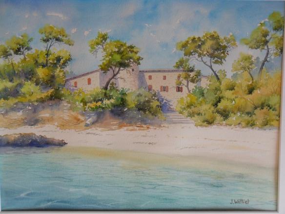 La maison en bord de mer (30 x 40 cm)