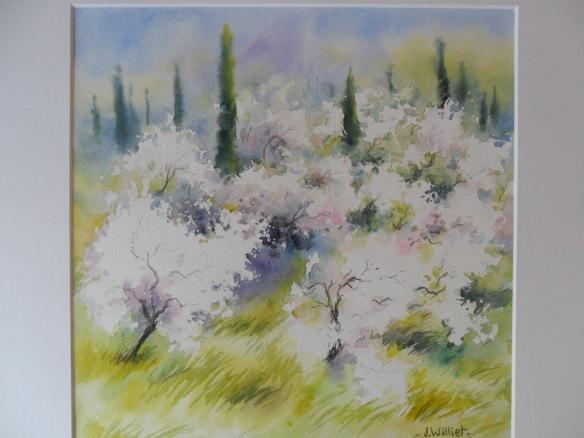 les amandiers en fleurs 30 x 30 cm
