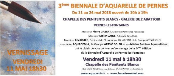 Invitation Biennale d-Aquarelle Pernes 2018