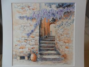 Le vieil escalier à la glycine 2