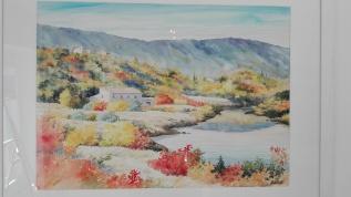 Reflets d'automne en Luberon (43 x 60 cm)