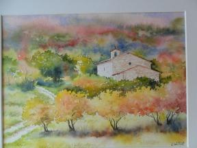 Chapelle de Blauvac en automne (22 x 30 cm)