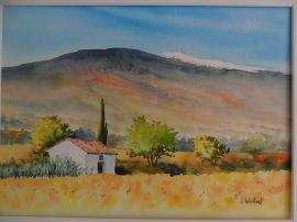 Le mont Ventoux (22 x 30 cm)