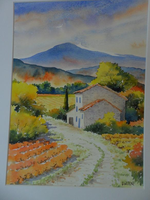 Chemin d'automne vers le Ventoux
