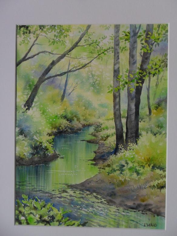 Le ruisseau secret (30 x 40 cm)