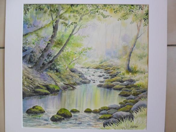 Au bord de la rivière (40 x 40 cm)
