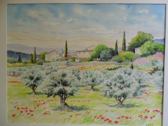 Oliviers en Luberon (50 x 65 cm)