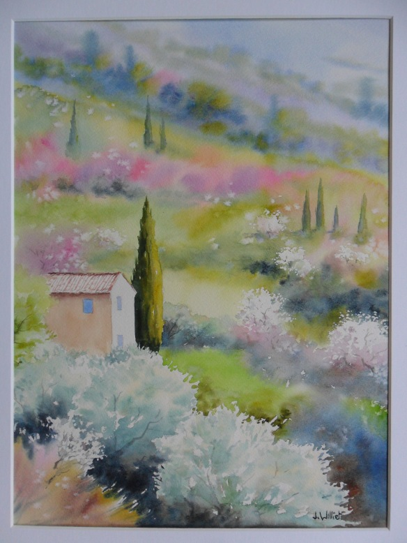Printemps vers la Roque Alric (30 x 40 cm)