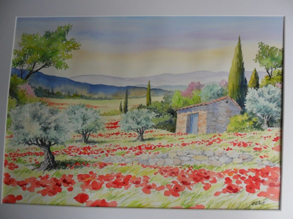 Provence des coquelicots (35 x 55 cm)