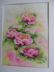 Les pivoines roses (30 x 40 cm)