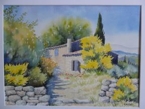 La maison aux genêts (30 x 40 cm)