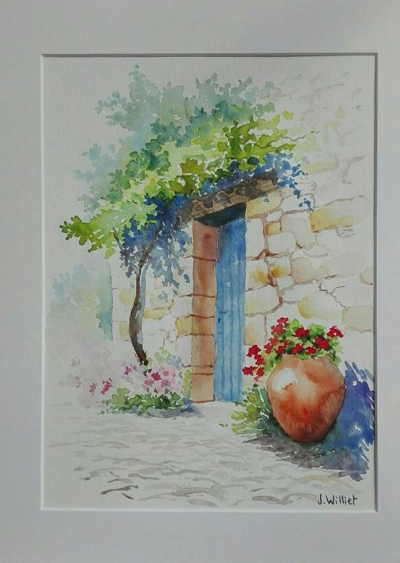 La treille et le pot fleuri (22 x 30 cm)