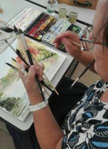 Michèle et ses pinceaux