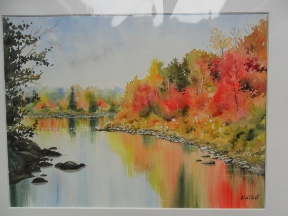 Reflets d'automne au Canada (30 x 40 cm)