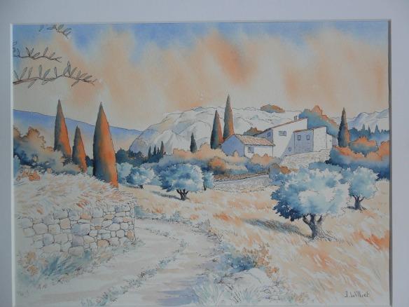 Ballade dans les alpilles (30 x 40 cm)