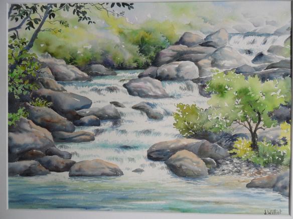 La rivière insolente 30 x 40 cm