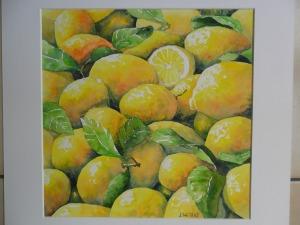 Les citrons (30 x 30 cm)