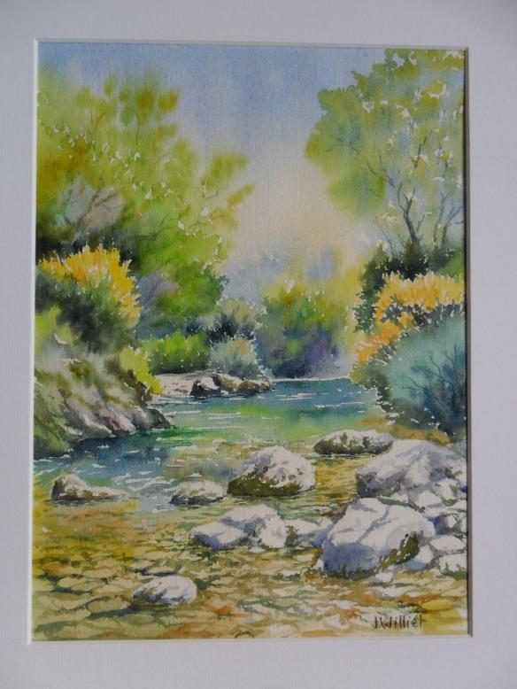 Les rochers de la rivière (22 x 30 cm)