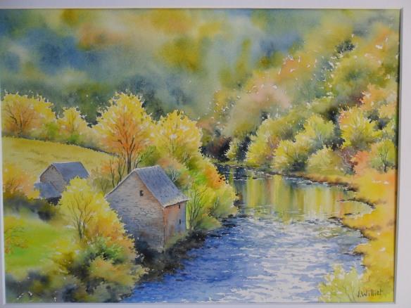 Rivière d'automne (30 x 40 cm)