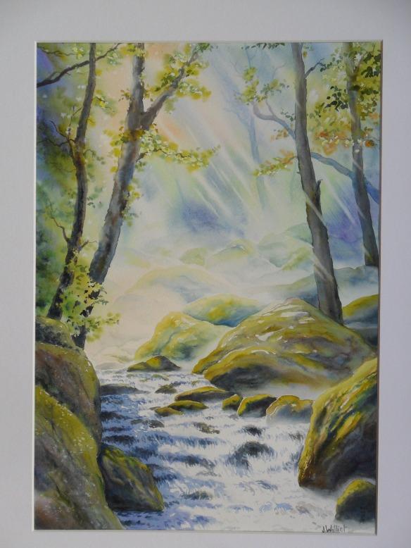 D'eau, de pierres et de lumière (25 x 50 cm)