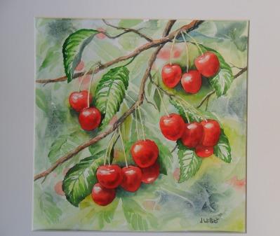 Le rouge des cerises (30 x 30 cm)