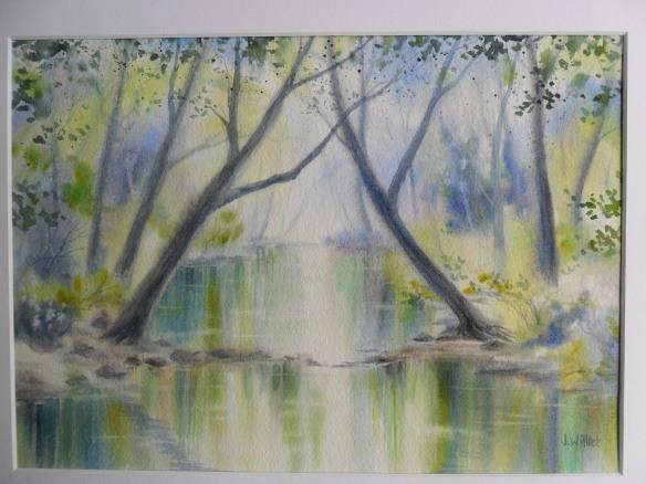 La rivière sous les arbres