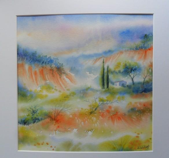 Paysage près de Roussillon