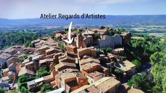 Roussillon vu du ciel